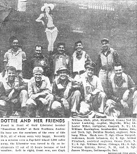 "Newspaper clipping re the crew of  B-24 Liberator - ""Dauntless Dottie"" - Click for a bigger picture"