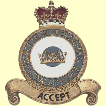 RAF Inspectorate of Recruiting Plaque - Click for the bigger picture