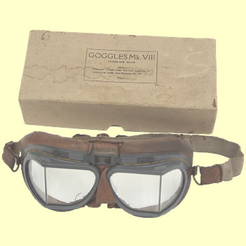 RAF Mk. VIII Flying Goggles - Click for the bigger picture