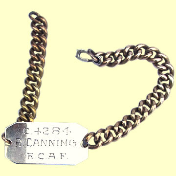 RCAF Identity Bracelet - Click for the bigger picture