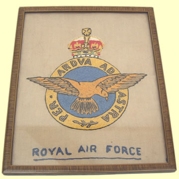 RAF Crest in Period Frame - Click for the bigger picture