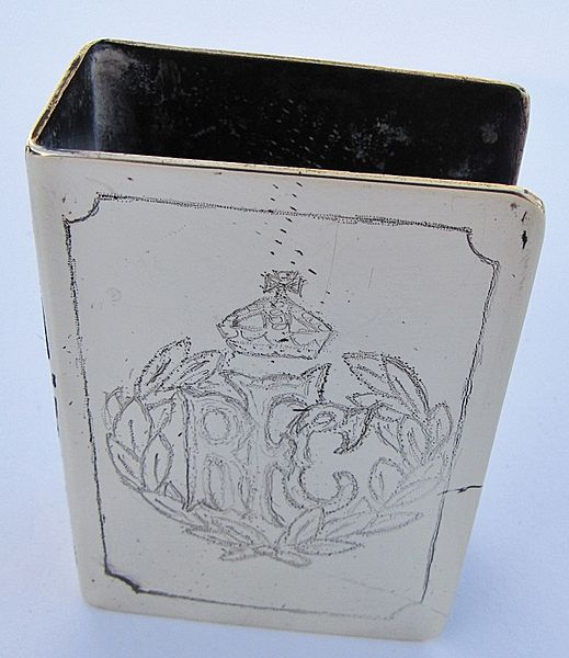 Royal Flying Corps Trench Art matchbox holder - Click for the bigger picture