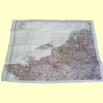 WWII Tissue Paper Escape Map Sheet C - Click for the bigger picture