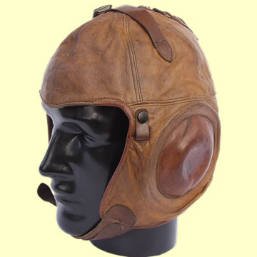 US Army Air Corp no. 1A Flying Helmet by Western Electric - Click for the bigger picture