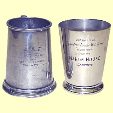 RAF Inscribed Pewter Tankards - Click for the bigger picture