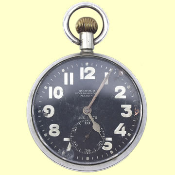 Royal Flying Corps Mk. V Aviation Panel Watch circa 1916 - Click for the bigger picture