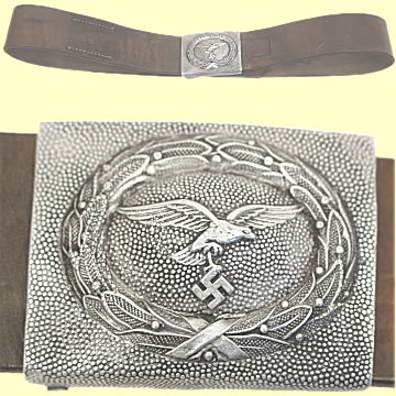 Luftwaffe Brown Leather Service Belt - Click for the bigger picture