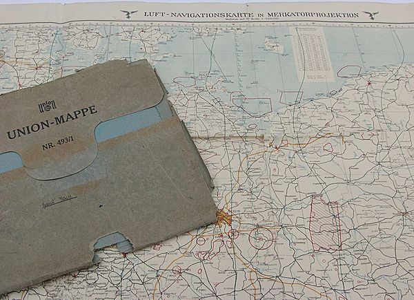 Luft-Navigationskarte Flight Chart dated 27 June 1940 - Click for the bigger picture