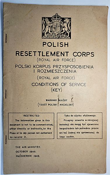 Polish Resettlement Corps Conditions of Service - Click for the bigger picture