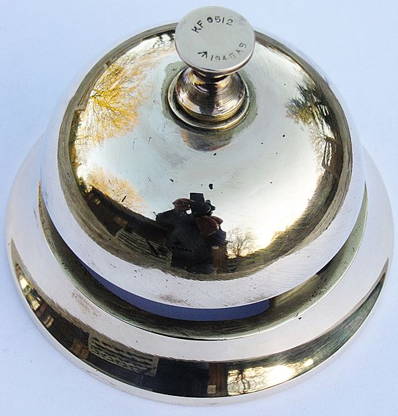 WW 11 Military Desk Bell - Click for the bigger picture