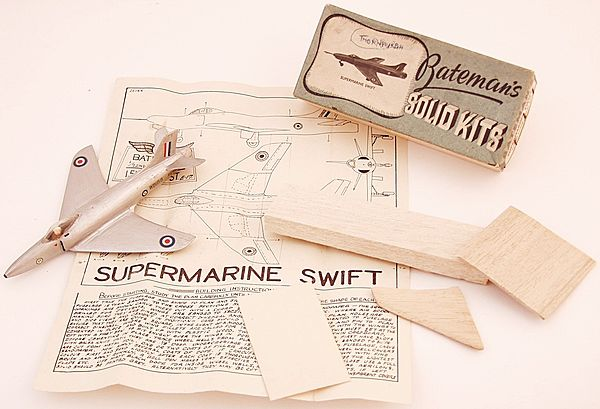 Supermarine Swift 1/72 Scale Balsa Model by Bateman - Click for the bigger picture