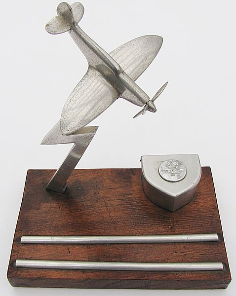 Supermarine Spitfire 'Desk Tidy' Trench Art - Click for the bigger picture