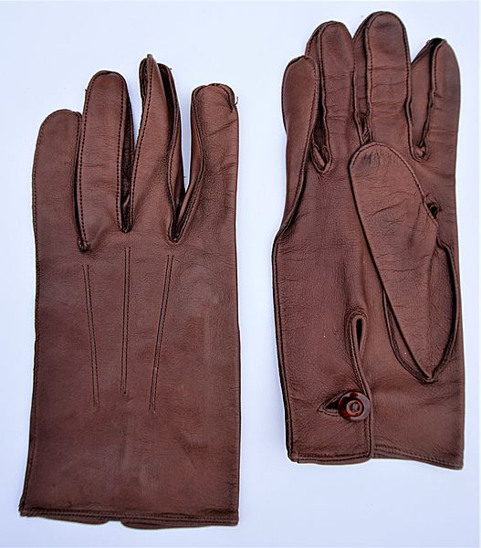 RAF Officers Brown Leather Dress Gloves - Click for the bigger picture