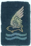 Goldfish Club cloth badge, worn on W/O J.R. Bristow's battle dress throughout the remainder of the war