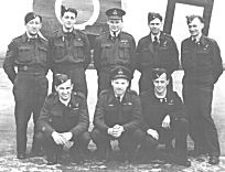 Crew of Halifax LL510. Flt. Lt Freddy Green is in the centre of the back row, W/O J.R.Bristow is also in the back row 2nd from right