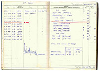 John Bristow's wartime Log Book - Click for a bigger picture