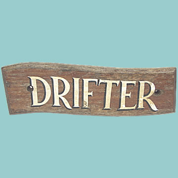 Fishing Boat\'s Name Board \'Drifter\' - Click for the bigger picture