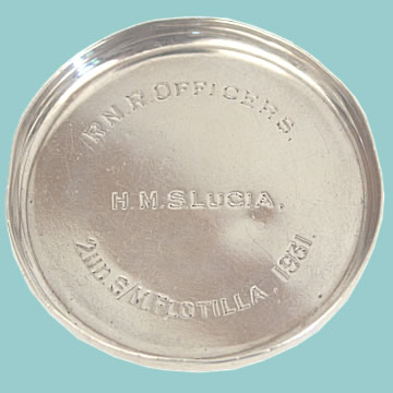 Solid Silver Presentation Drinks Coaster - Click for the bigger picture