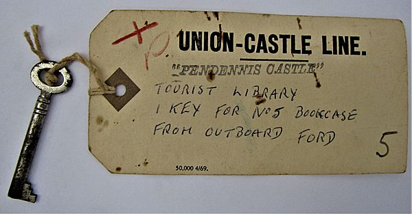 Original Library Key from 'RMS Pendennis Castle' - Click for the bigger picture