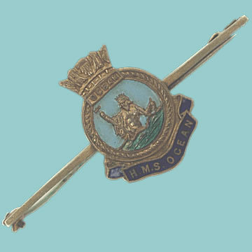 HMS Ocean Tie Pin - Click for the bigger picture