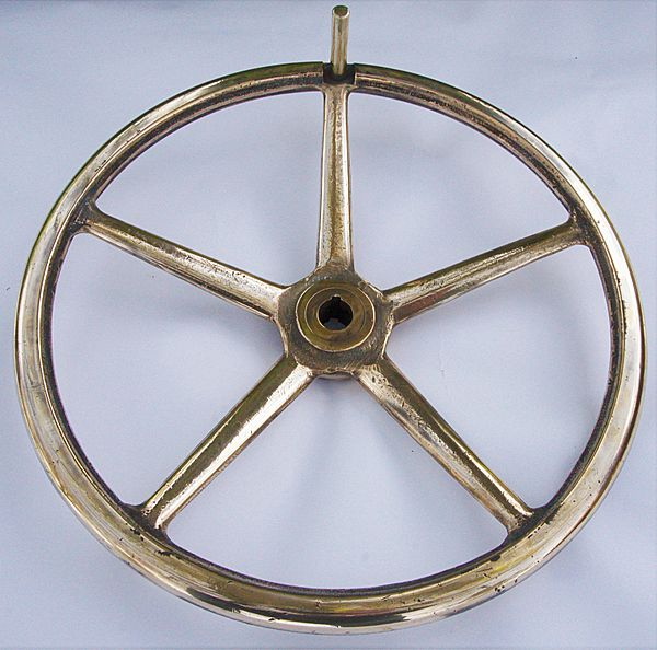 "Devoted Antique Nautical Brass Ships Wheel 20"" Across Moderate Price Maritime Wheels Antiques"