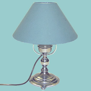Silvered Gimbaled Electric Lamp - Click for the bigger picture