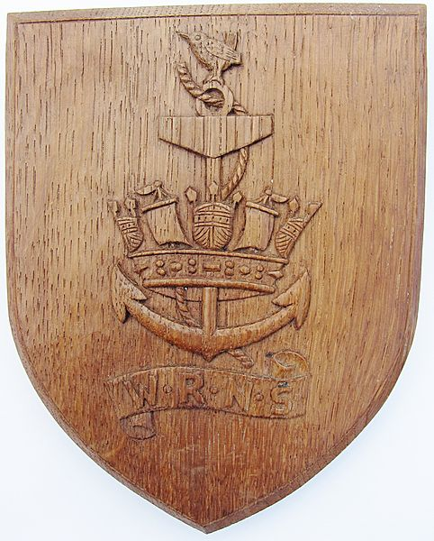 W.R.N.S.WW11 Hand Carved Oak Plaque - Click for the bigger picture