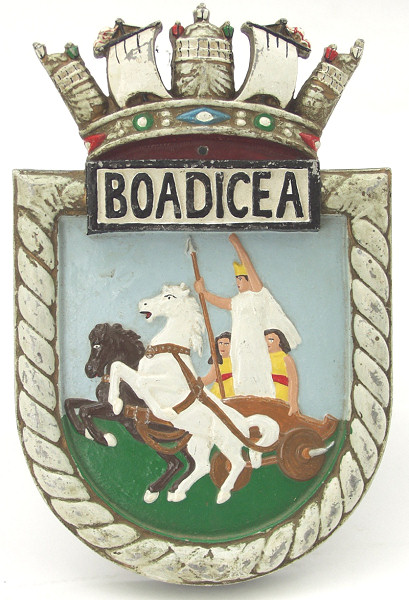 HMS Boadicea Boat Badge - Click for the bigger picture