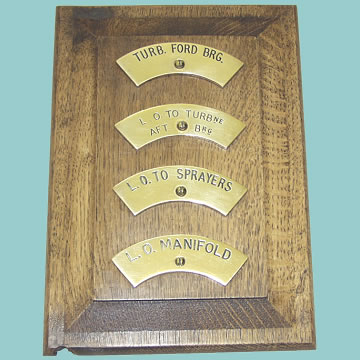 Brass Engine Room Plaques - Click for the bigger picture