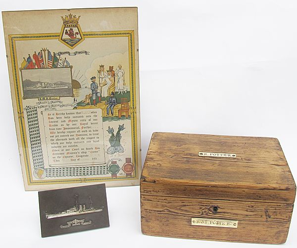 Royal Navy Ditty Box and Associated Items - Click for the bigger picture