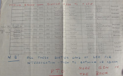 Our Air Intelligence  Officer's working document for D- Day