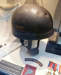 Para helmet worn by Major John Howard on D Day